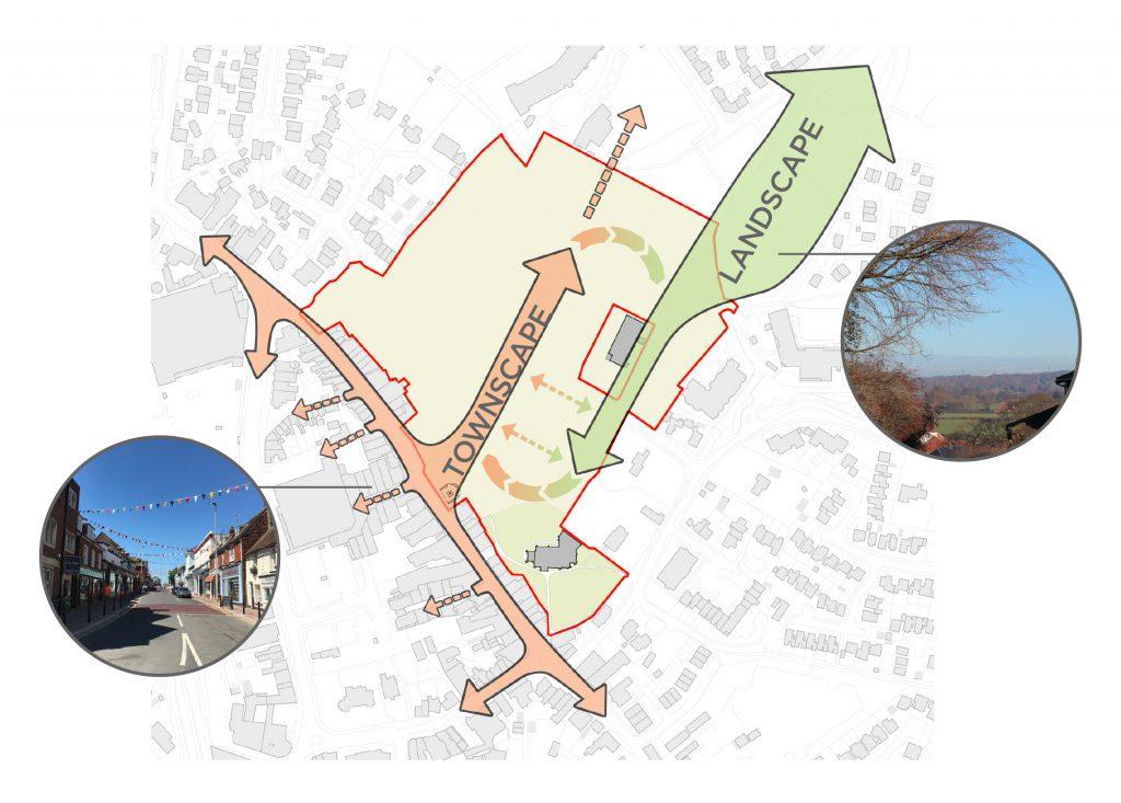 An Enhanced Hailsham Town Centre Entwining Landscape and Townscape
