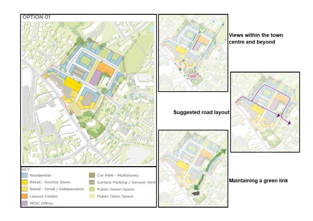 Hailsham Aspires Masterplan option 01 with key